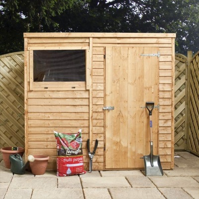 8 X 6 Pent Overlap Wooden Garden Shed With Windows